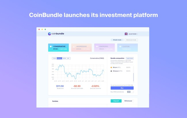 CoinBundle Launches Bundled Crypto Investment Platform and Takes the Lead Towards Bringing the Next Billion People to Cryptocurrencies